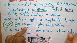 black box testing | software engineering |