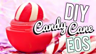 diy candy cane eos lip balm