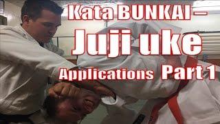 Kata Bunkai - Juji uke (X-block or cross block) Applications Part 1- Pinan Yodan Choke
