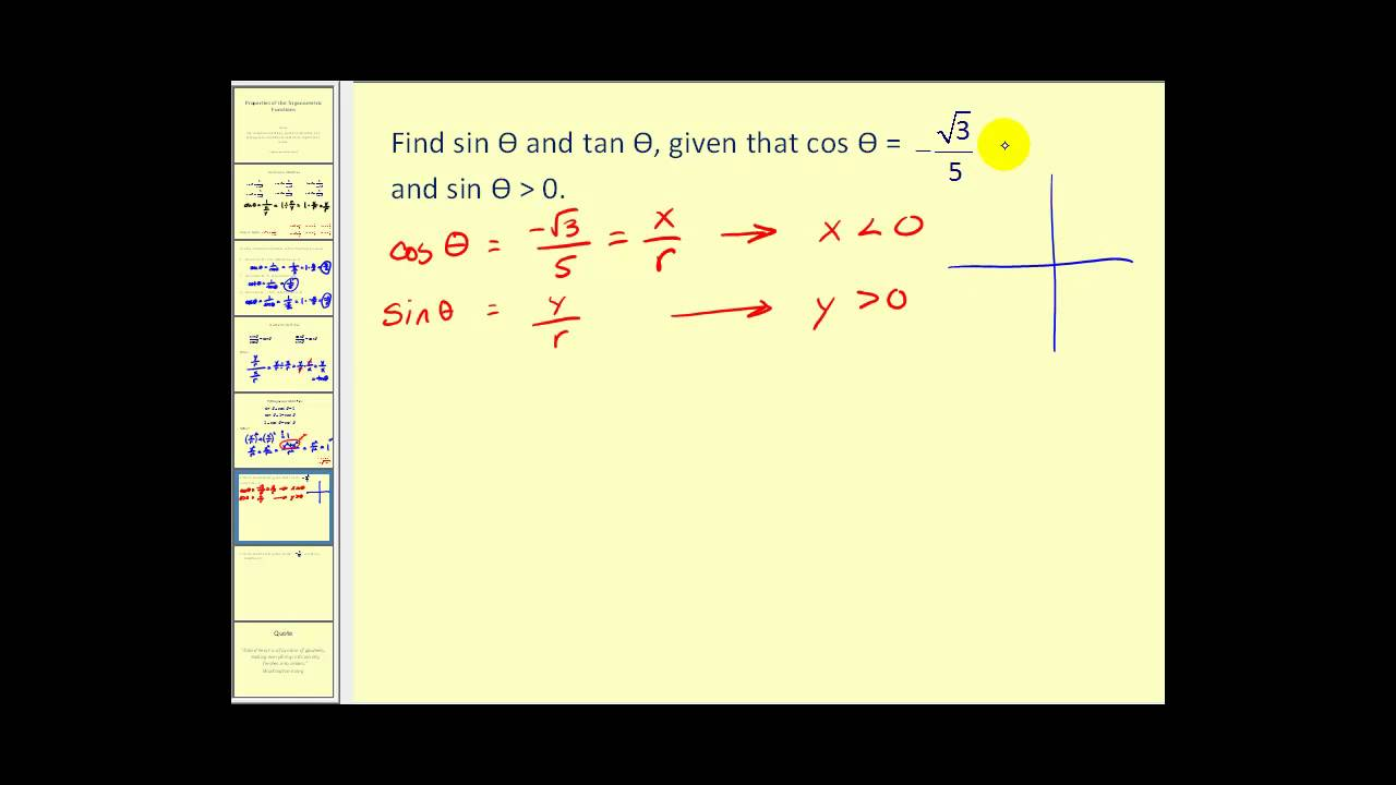 The Reciprocal Quotient And Pythagorean Identities Youtube