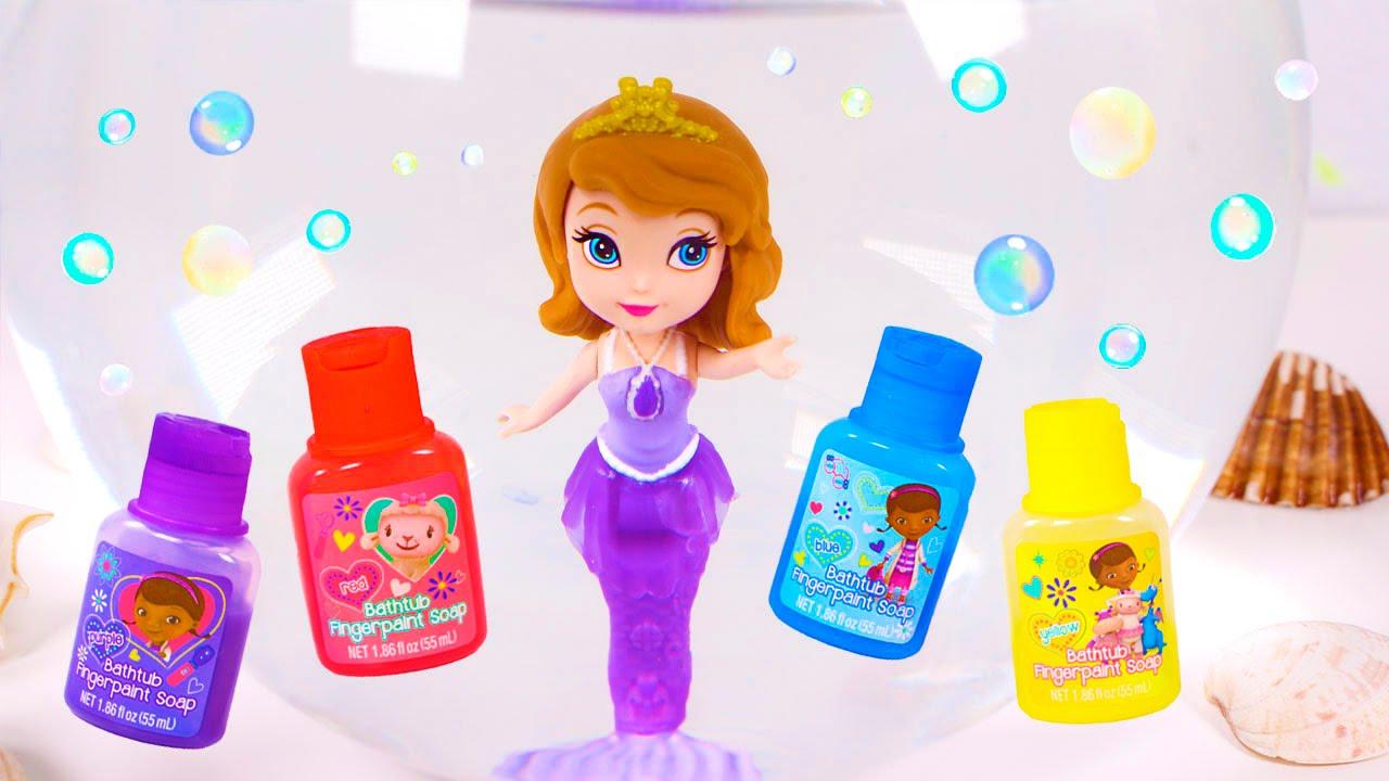 Princesa Sofía Baht Paint De Las Sirenas Sofía Y Amber Vídeos De Juguetes Para Niños