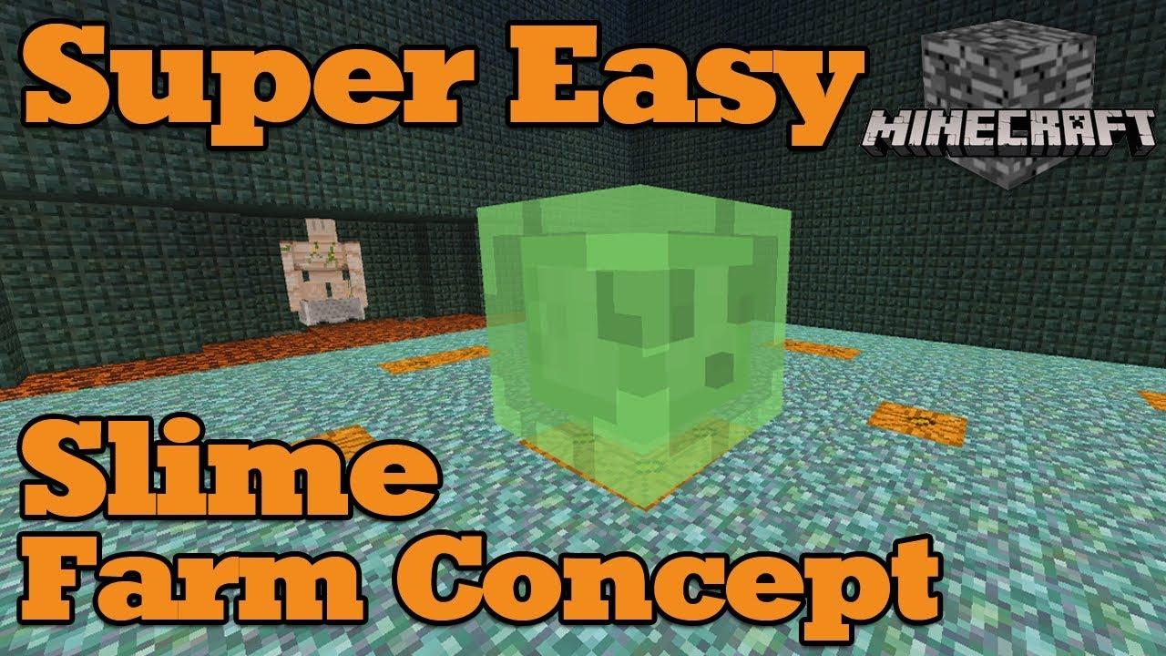 Super Simple Slime Farm! Minecraft Bedrock Engine (Win10, MCPE, BTU)