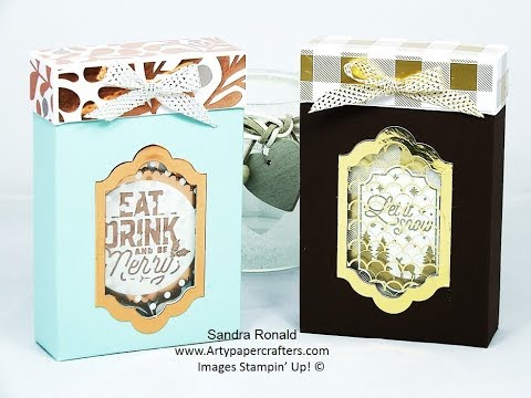 #2 Advent Countdown -Gift Box for Merry Labels - SandraR Stampin' Up! Demonstrator Independent