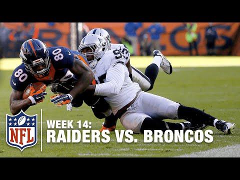 Brock Osweiler Hits TE Vernon Davis for a 23-Yard Gain | Raiders vs. Broncos | NFL