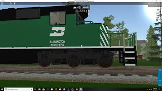railfaning in roblox with bandicam, bnsf aftion mo.