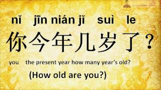 Learn Chinese - How old are you?