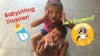 Babysitting Disaster Fail SKIT! Surprise Ending...is it all a bad DREAM? Sister Sister! thumbnail