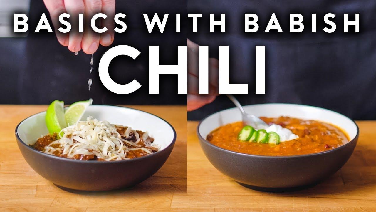 Download Carnivorous Chili & Vegetarian Chili | Basics with Babish