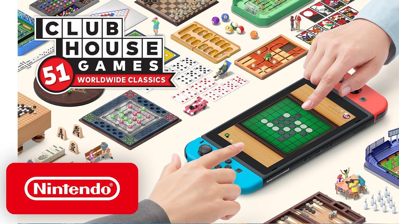 Clubhouse Games: 51 Worldwide Classics - Announcement Trailer - Nintendo Switch - Nintendo