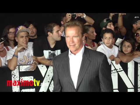 "Arnold Schwarzenegger at ""The Expendables 2"" Los Angeles Premiere ARRIVALS"