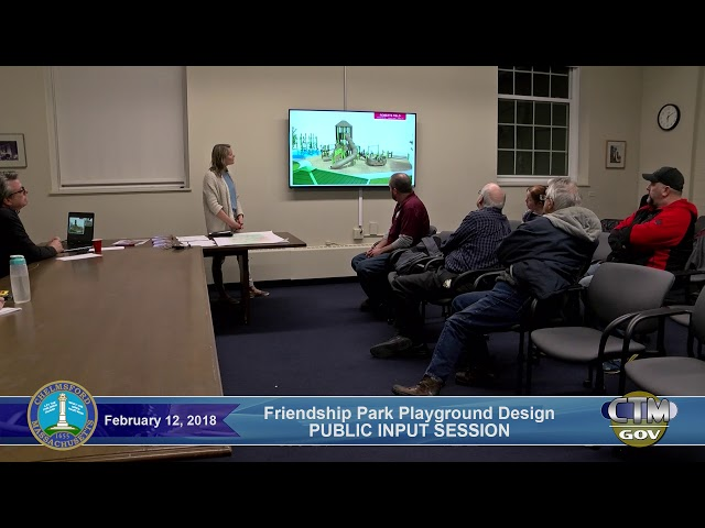 Roberts Field / Friendship Park Committee Meeting – Monday, February 12, 2018