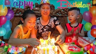 Happy Birthday to Grandma | Wish paternal grandmother always healthy and happy from Anto and sister