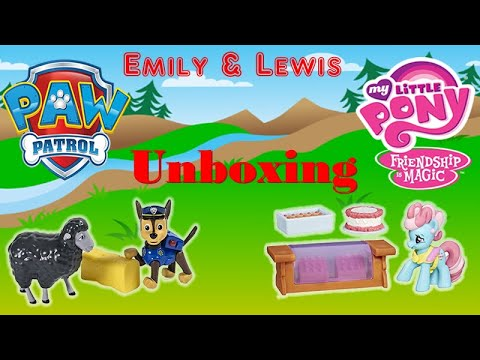 Paw Patrol Chase & Marley | My Little Pony | Friendship Is Magic | Mrs.Dazzle Cake | Toy Unboxing