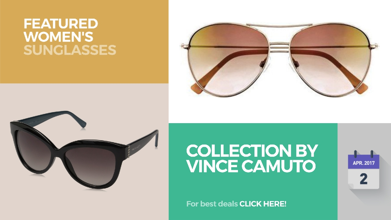 89fc87981 Collection By Vince Camuto Featured Women's Sunglasses - YouTube