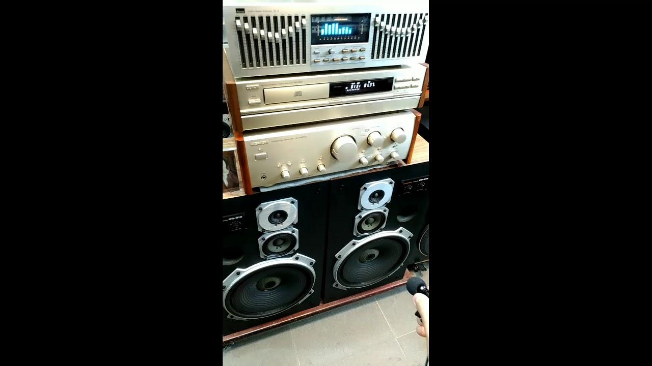 Loa Nhật PIONEER CS-616 ghép SANSUI 607XR -  Âm Thanh Khánh Hằng - Audio Bãi Nhật - LH: 0912572434