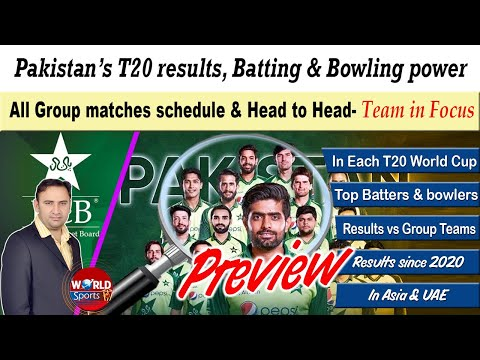 Pakistan T20 World cup squad analysis   Head to Head vs Group teams   Pakistan team in focus