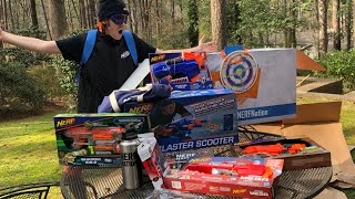 WHOA!  ULTIMATE NERF PACKAGE UNBOXING!