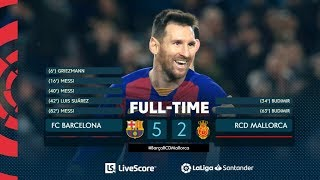 Barcelona mallorca 5-2 all goals & highlights resumen y goles messi suarez griezmann