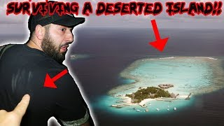 SURVIVING THE NIGHT ON A DESERTED HAUNTED ISLAND! ** I ALMOST LOST MY LIFE** | MOE SARGI