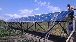 Завершен монтаж частной 30 кВт солнечной электростанции в одесской обл. с. Грибовка(