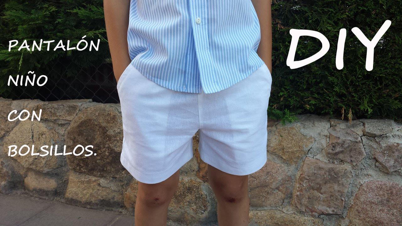 Pantal n ni o con bolsillos como hacer un pantal n de - Colgador de tela con bolsillos ...