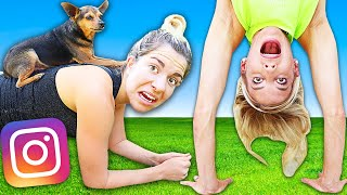 We Let Followers Control Our Workout for 24 Hours! Bad Idea  | Rebecca Maddie Fitness