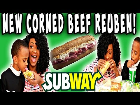 MUKBANG: SUBWAY CORNED BEEF REUBEN! EATING SHOW! YUMMYBITESTV