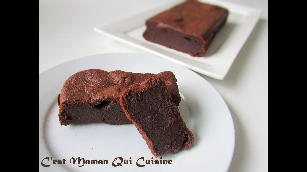 C Est Maman Qui Cuisine   Fondant Au Chocolat Deculpabilisant A La Compote De Pomme Sans