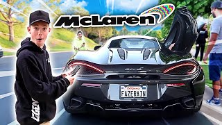 Tanner Fox REACTS to my SUPERCAR!!