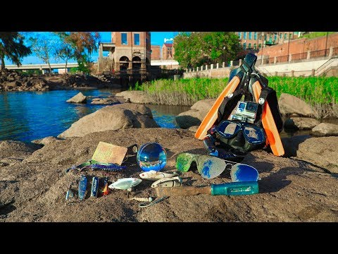 River Treasure: Sunglasses, Fishing Lures, Electronics (Extreme Cold)
