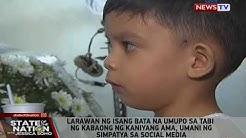 SONA: Larawan ng isang bata na umupo sa tabi ng kabaong ng kaniyang ama, umani ng simpatya...