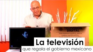 Así son las TVs que regala el Gobierno mexicano