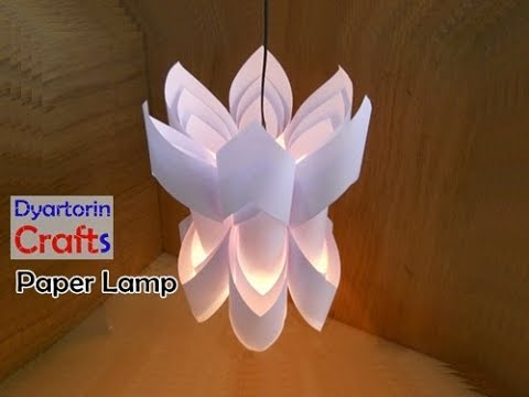How to make a paper lamp / lampshade