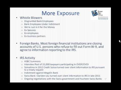 October 30, 2013, FBAR's, Voluntary Disclosures and Foreign Accounts Webinar