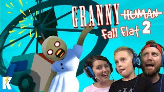 GRANNY Fall Flat 2! (Destroying NEW Human Fall Flat Level STEAM!) K-City GAMING