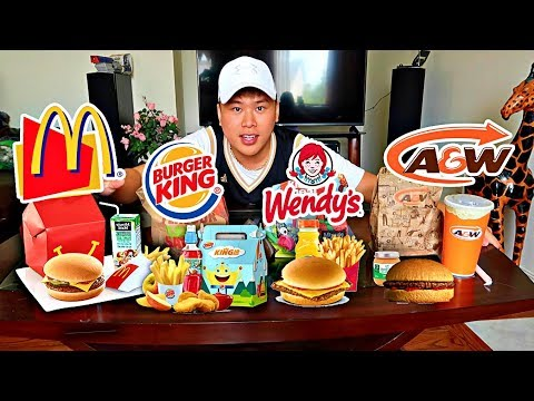 I Bought Every Fast Food KIDS MEAL! (TASTE TEST EXPERIMENT) Who has the best kids meal?