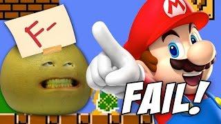 SUPER MARIO BROS FAIL! - Let's Play Annoying Orange w/Grapefruit