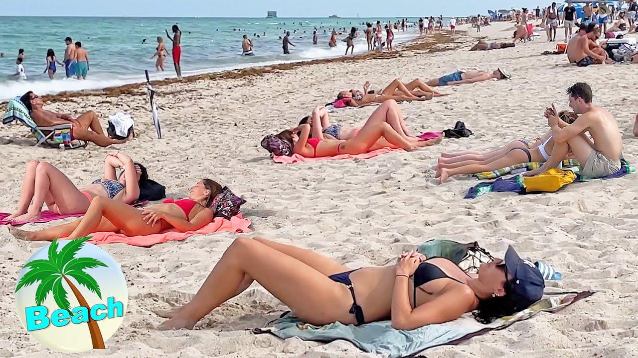 BEACH WALK MIAMI South Florida 2021 USA vlog Travel 4k video