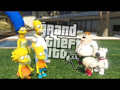 GTA 5 Mods - THE SIMPSONS VS FAMILY GUY MOD (GTA 5 Mods Gameplay)