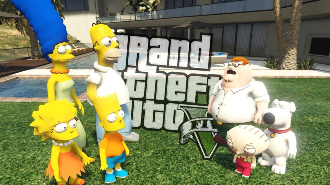 The Simpsons House Plan >> GTA 5 Mods - THE SIMPSONS VS FAMILY GUY MOD (GTA 5 Mods Gameplay) - YouTube