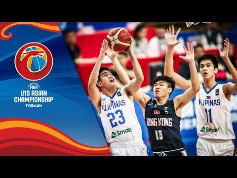 Philippines v Hong Kong - Full Game - Play-Offs - FIBA U16 Asian Championship