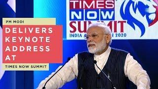 PM Modi delivers keynote address at Times Now Summit