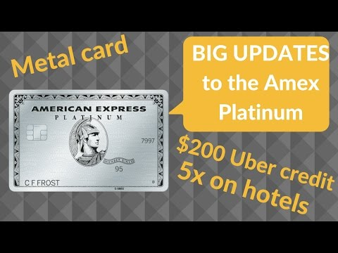 Big Updates to the Amex Platinum: $550 Annual Fee, $200 Uber Credit, and 5x Hotels