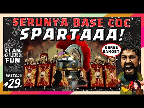 SERUNYA BASE SPARTAAA COC! | CLAN CHALLENGE FUN #29
