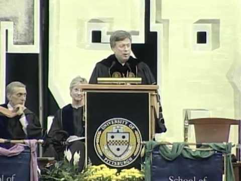 Chancellor Nordenberg Introduces Dan Marino At Pitt's 2008 Commencement