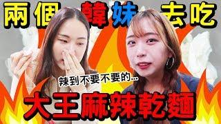 [맛집美食]帶韓國人去吃 大王麻辣乾麵!!辣到哭了...대만에서 가장 매운 건면!!