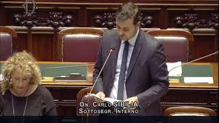 Carlo Sibilia - Risposta sull'interpellanza sulla gestione immigrazione 18/09/2018