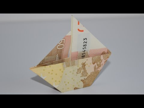 Euro Origami: Sailing Ship | 50 Euro | Easy tutorials and how to's for everyone #Urbanskills