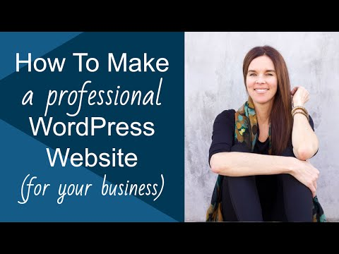 How To Make A WordPress Website (Genesis Executive Professional Theme)