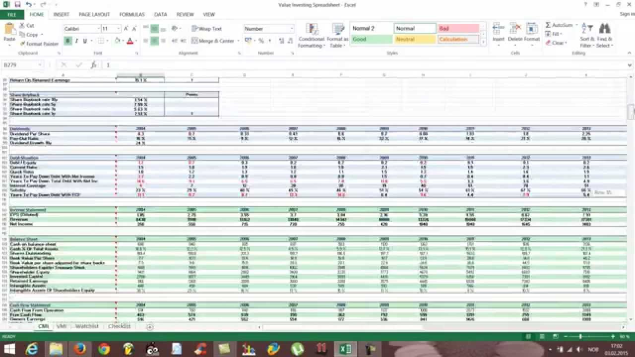 Free Excel Stock Spreadsheet - How to use - YouTube